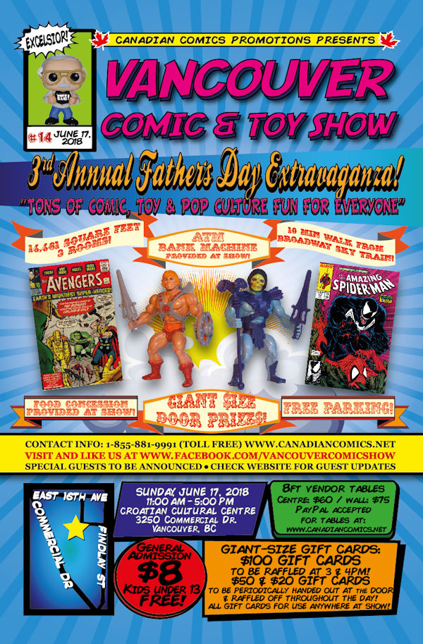 Vancouver Comic and Toy Show 14 Flyer
