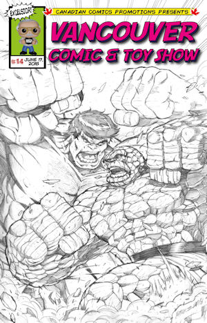 Hulk vs Thing BW