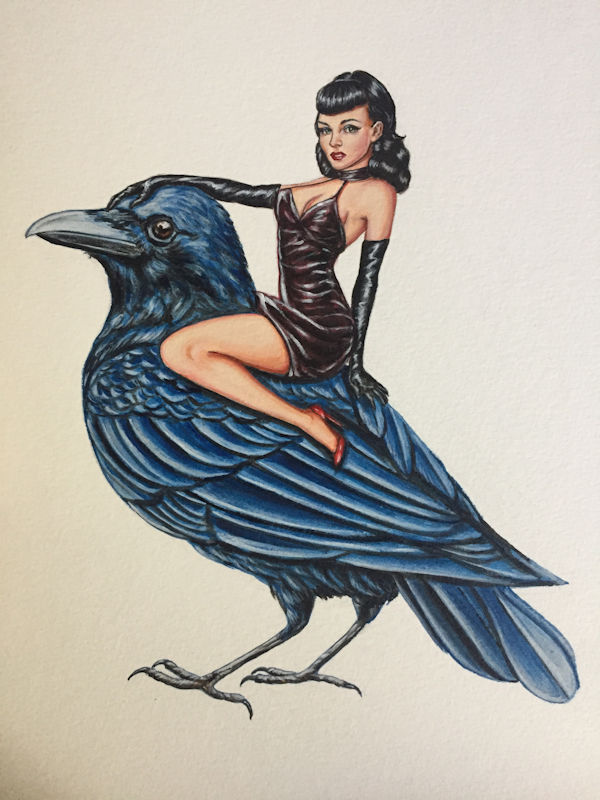 Peter Cimpoe Raven Pin-Up